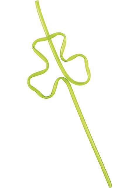 4 clover shaped straws