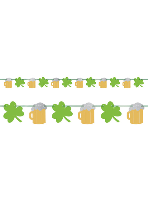 Clover and beer glass garland