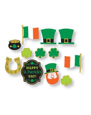 Sett med 12 St Patrick's Irland fotoprops