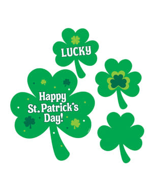 4 St Patrick's clover decorations
