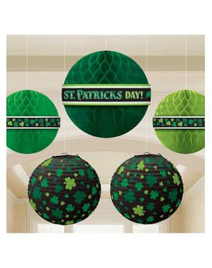 5 boules en papier St Patric