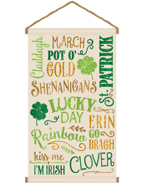 St Patrick's Day ophangbord