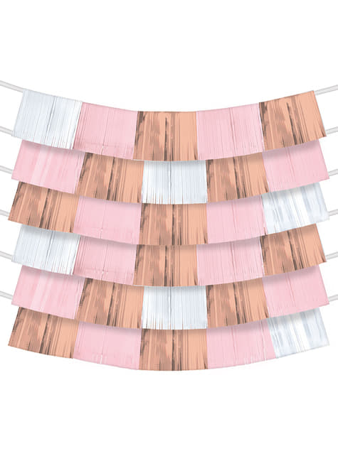 Set of 9 rose gold strip fans for Background Decorations