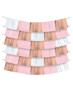 9 rose gold strip fans for Background Decorations