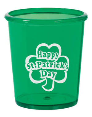 Happy St Patrick's Day hard plastic cup