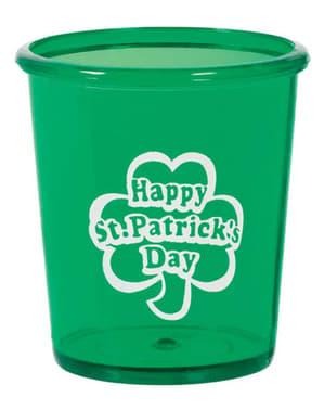 Happy St Patrick's Day hård plastikkop