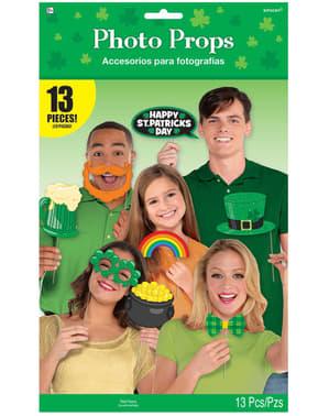 Sett med 13 morsomme St Patrick's tilbehør