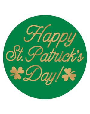 Sett med 18 Happy St Patrick's Day glassbrikker