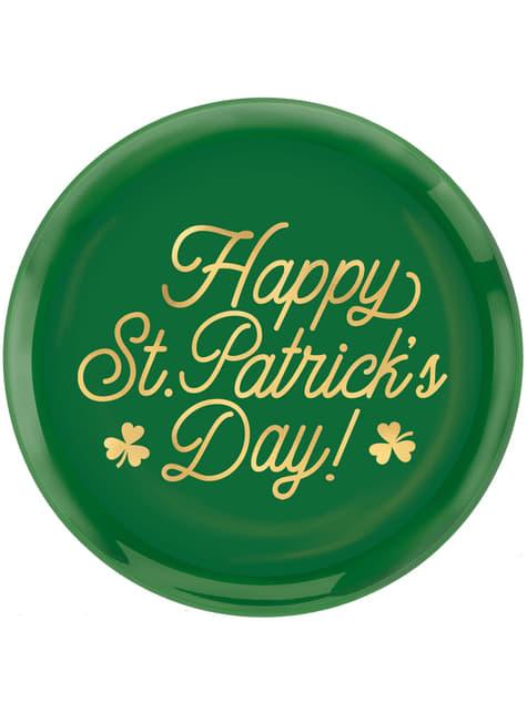Reusable plastic Happy St Patrick's Day plate