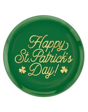 Многоразовая пластиковая тарелка Happy St Patrick's Day