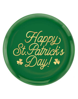 Reusable plastic Happy St Patrick's Day plate