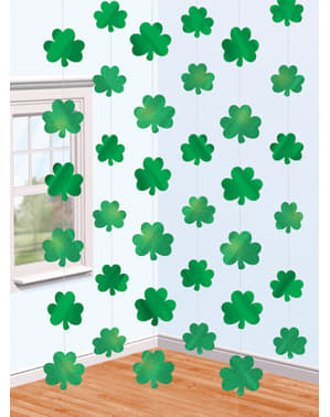 St Patrick's clover curtain