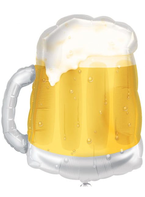 Ballon aluminium chope de bière