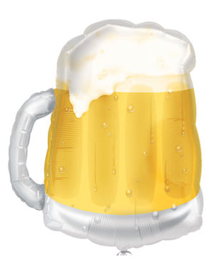 Globo de foil de jarra cerveza