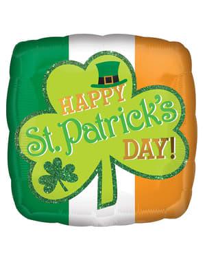 Palloncino di foil Happy St Patrick's Day con porporina