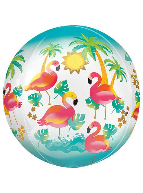 Kúla lagaður hawaiian flamingos filmu blöðru
