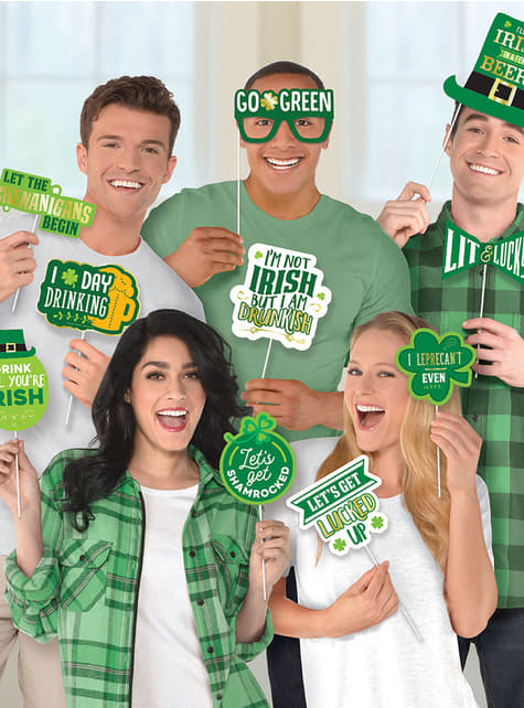 13 accesorios photocall Happy St Patrick's