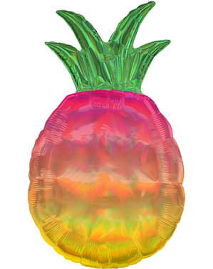 Iridescent pineapple foil balloon