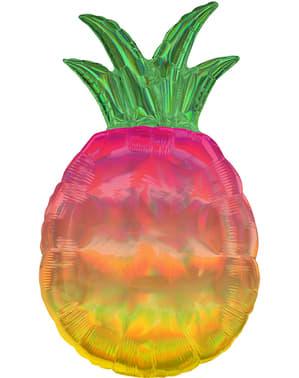 Opalizujący foliowy balon Ananas