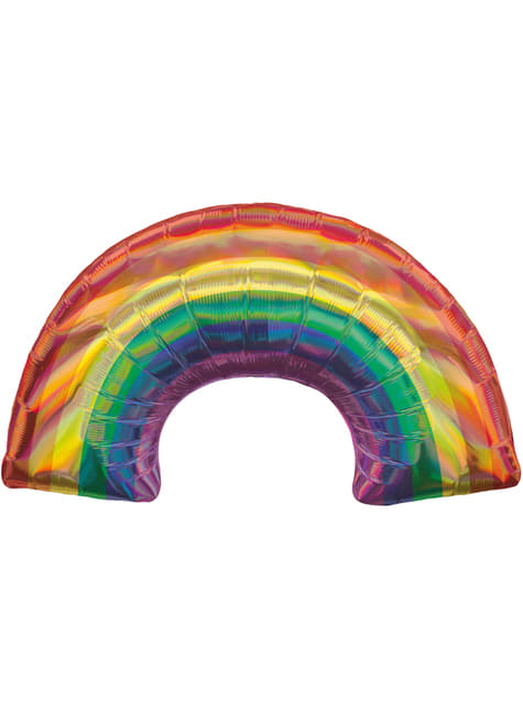 Globo de foil de arcoíris iridiscente