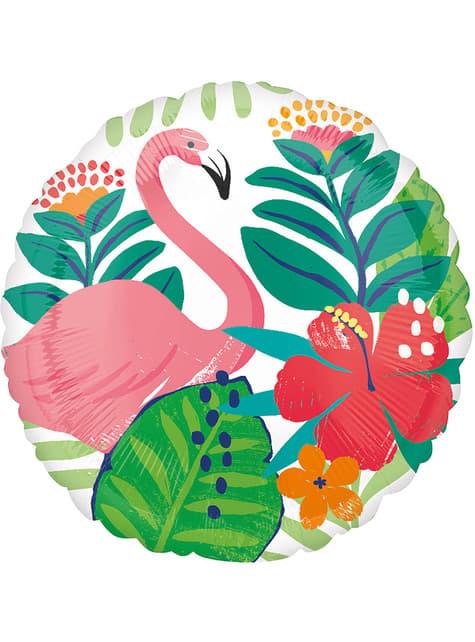 Balão redondo de foil de flamingo havaiano