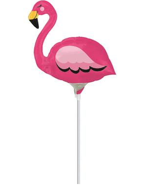 Mini balão de foil de flamingo rosa