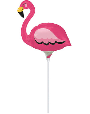 Roze flamingo mini folieballon