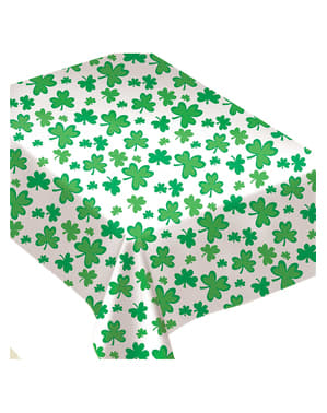Fun St Patrick's clover tablecloth