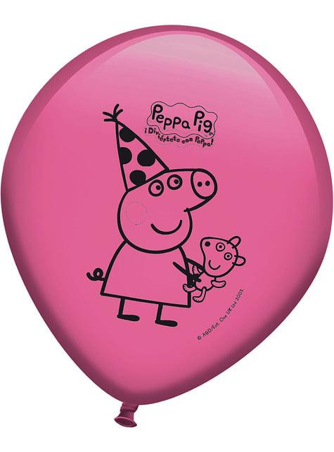 Set de 8 globos Peppa Pig