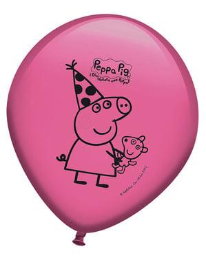 Sett med 8 Peppa Gris Ballonger
