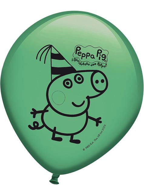 Conjunto de 8 balões d' A Porquinha Peppa