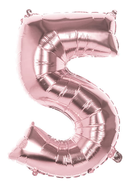Ballon numéro 5 Rose Gold 86cm