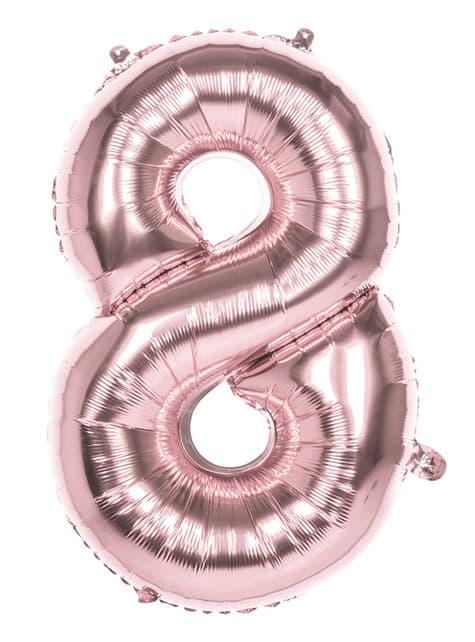 Ballon numéro 8 Rose Gold 86cm