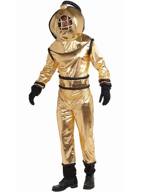 Disfraz de buzo dorado