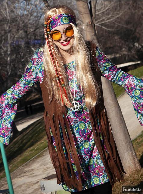 Disfraz de hippie para mujer - mujer