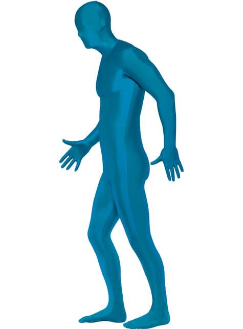 Fato Segunda Pele azul para adulto