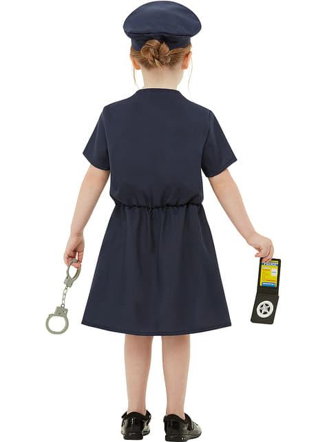 Disfraz de policía para niña - niña