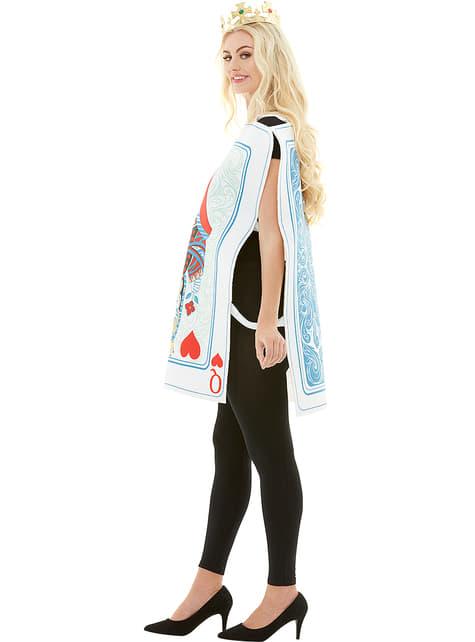 Disfraz de carta de reina de corazones - original