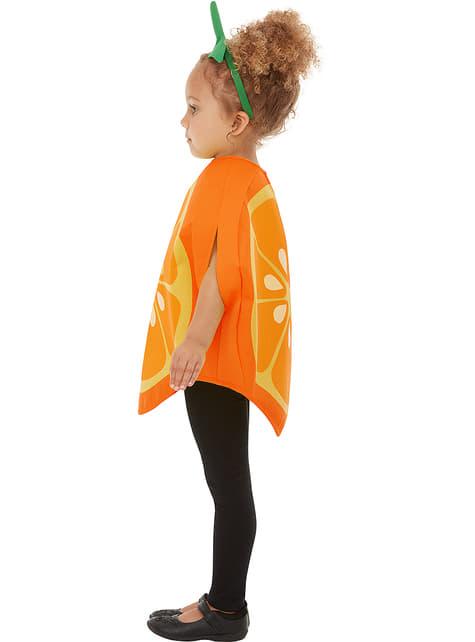 Fato de laranja infantil