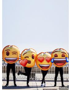 360cda3aaa ... Disfraz de Emoji sonriente con lágrimas para adulto