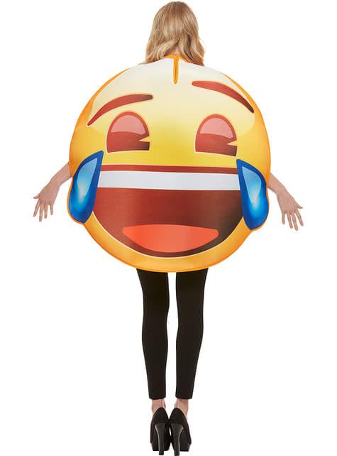 Déguisement Emoji sourire larmes adulte