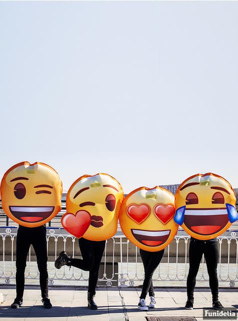 Disfraz de Emoji sonriente con ojos de corazón - adulto