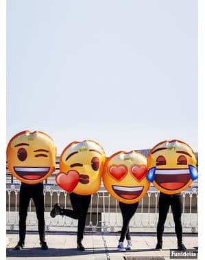 Disfraz de Emoji sonriente con ojos de corazón