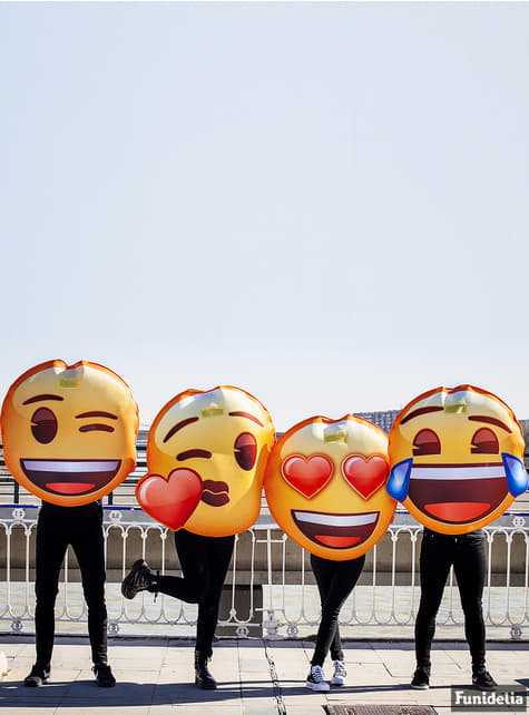 Disfraz de Emoji beso de corazón - original