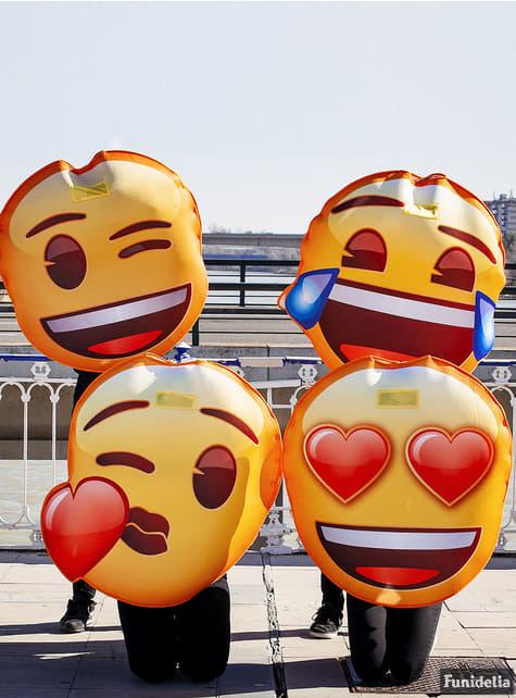 Fato de Emoji beijo de coração