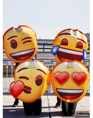 Disfraz de Emoji guiñando un ojo