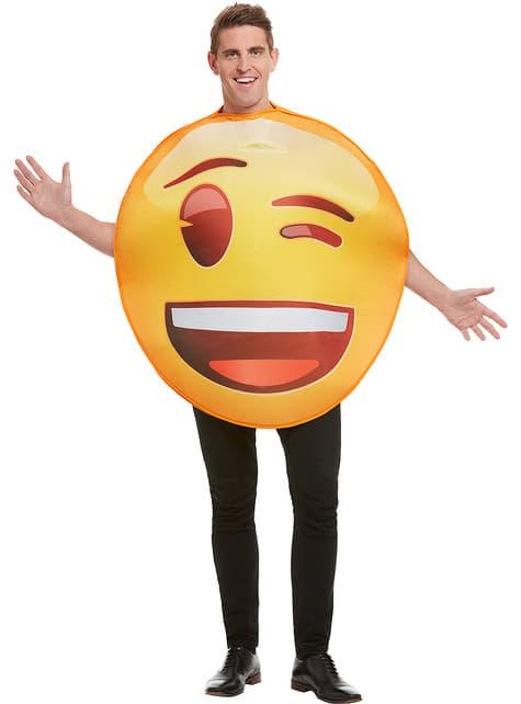 Disfraz de Emoji guiñando un ojo - barato