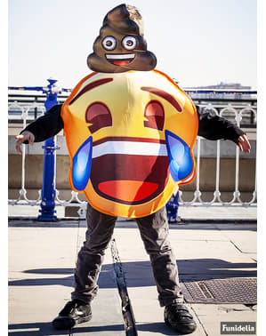 Emoji kostým smajlík se slzami pro děti