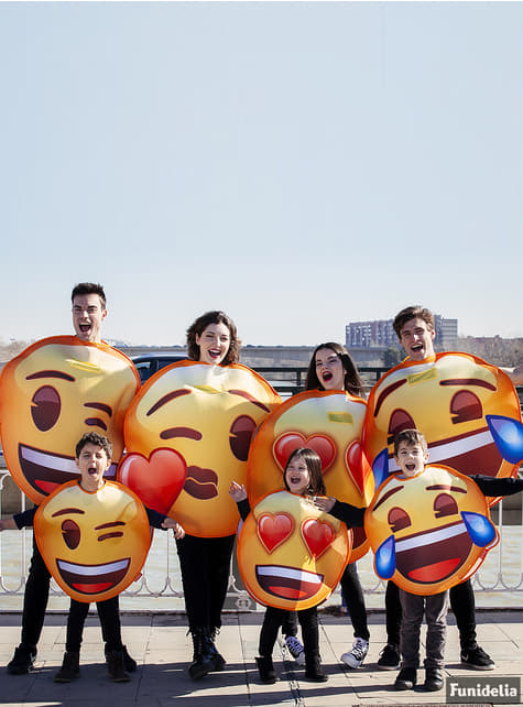 Disfraz de Emoji sonriente con lágrimas infantil - Halloween