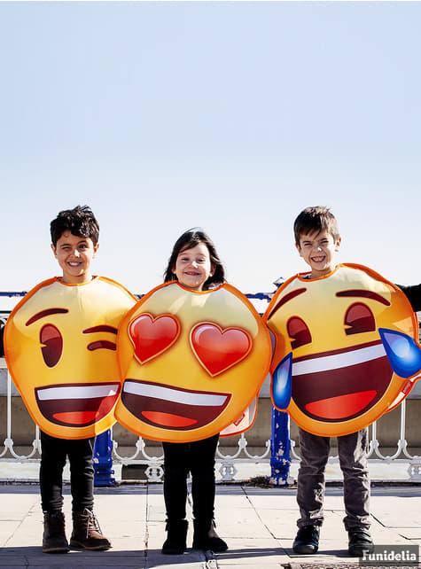 Disfraz de Emoji sonriente con ojos de corazón infantil - infantil